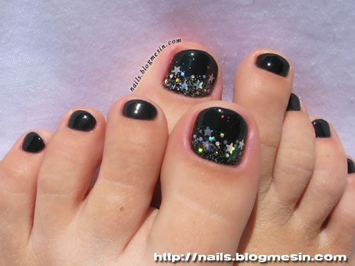 Black Toenails Design Nails By Rabbit Pedicure Designs Toenails Pedicure Designs Toe Nails