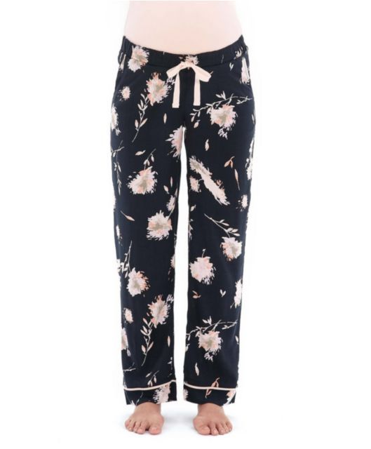 bf6014356c5c96 X Bloom and Blossom Floral Woven Pant   maternity wardrobe   Pants ...