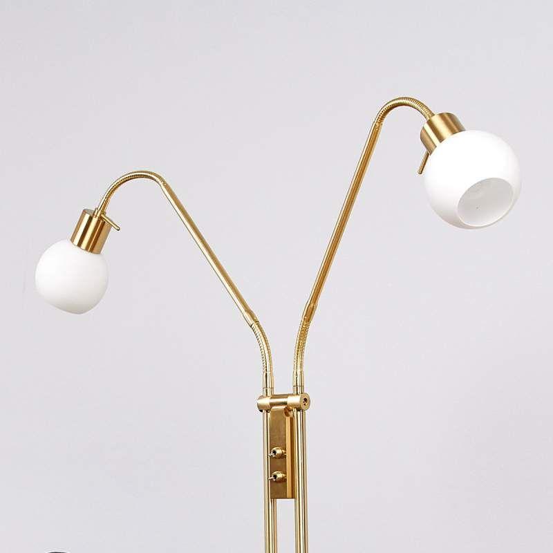 2 Lichts Led Vloerlamp Elaina Messing In 2019 Lampen Led Lamp