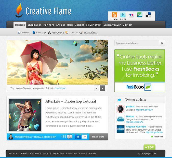 Blue Blog – Free PSD Template
