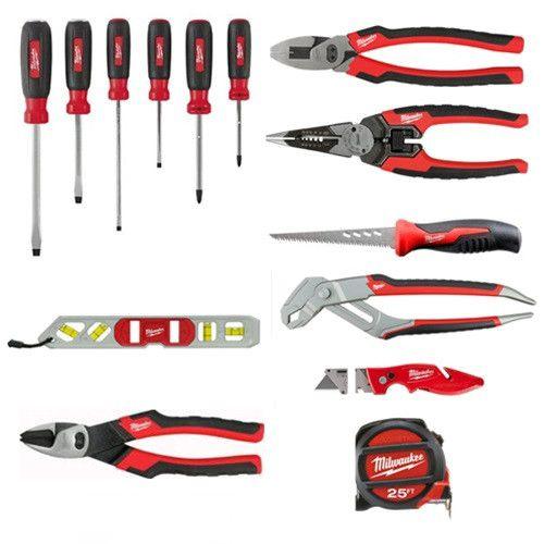 Milwaukee 48 22 0100 Electrician S Starter Hand Tool Kit Hand Tool Kit Tools Best Hand Tools