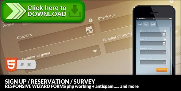Free nulled Mastenia Sign up Reservation Survey Form Wizard download - reservation forms in pdf