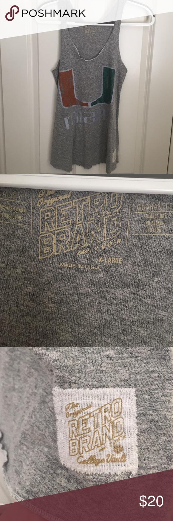 U Miami razor back tank top Retro brand tank top. U of Miami. Original Retro Brand Tops Tank Tops