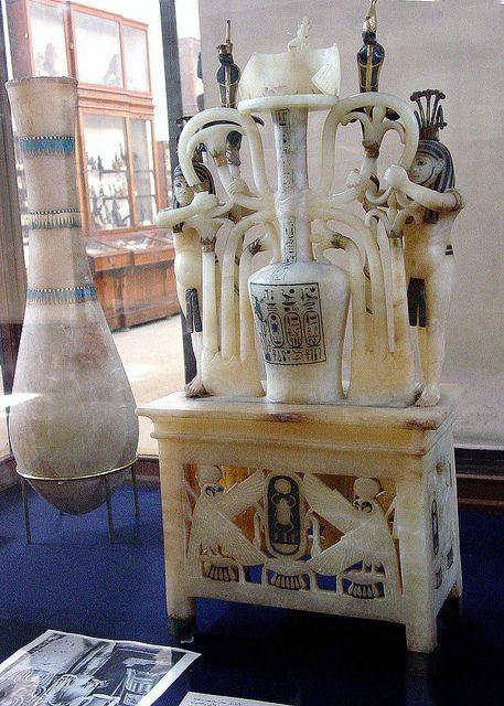 Alabaster vase from the tomb of Pharaoh Tutankhamen