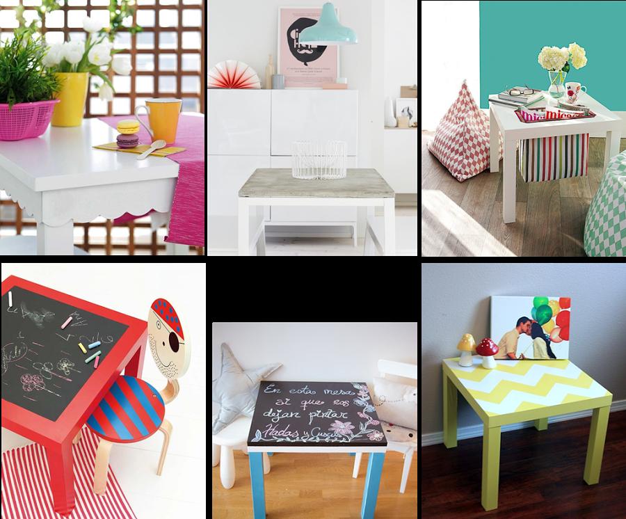 6 ideas para personalizar la mesa lack de ikea ikea for Sillas para dormitorio ikea