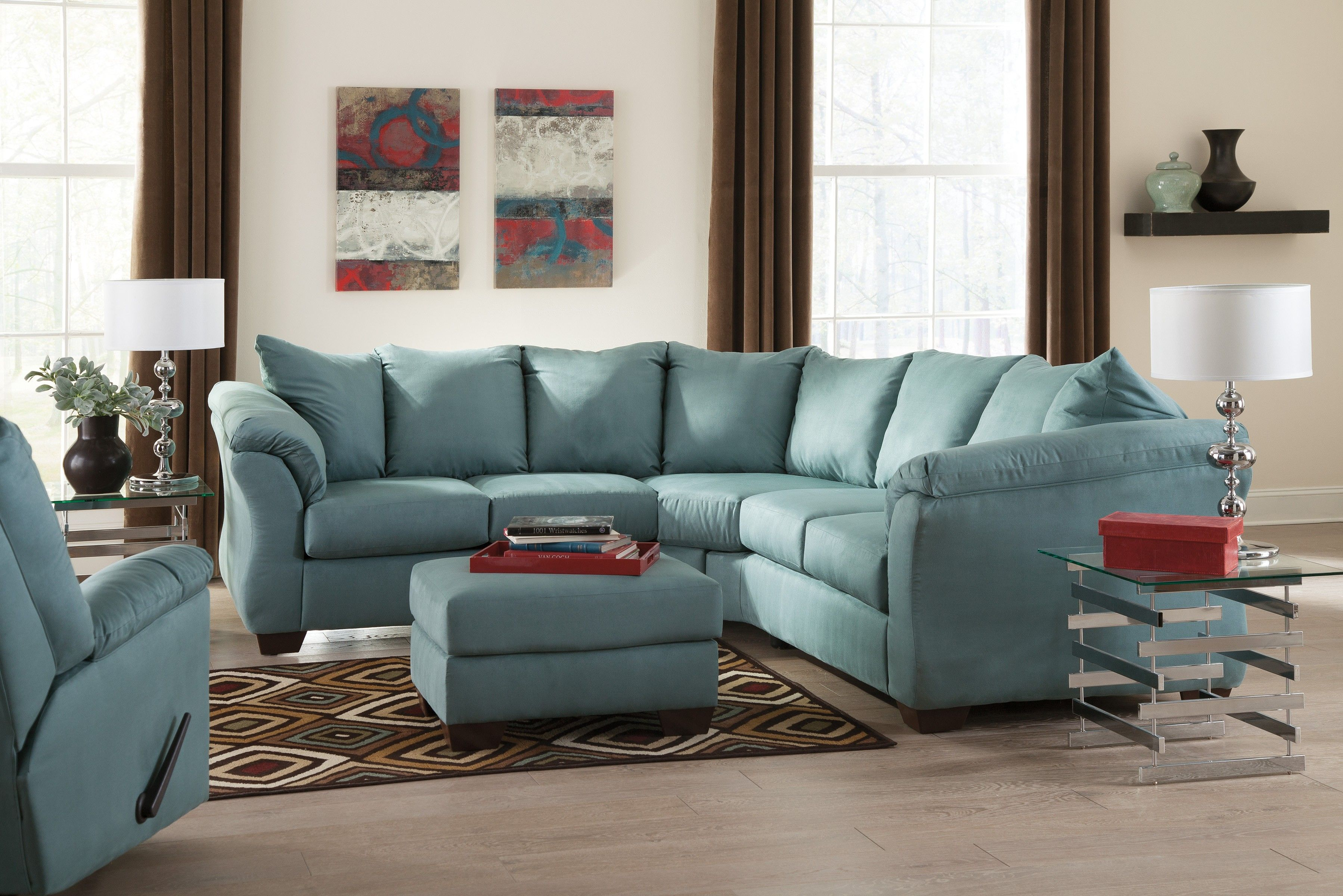 Buy Darcy Sky LAF Loveseat with RAF Loveseat by Signature Design