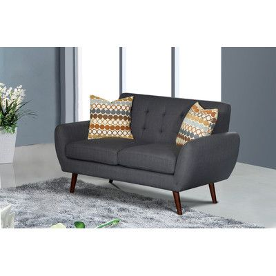 Magnificent Living In Style Keira Living Room Loveseat Upholstery Dark Machost Co Dining Chair Design Ideas Machostcouk