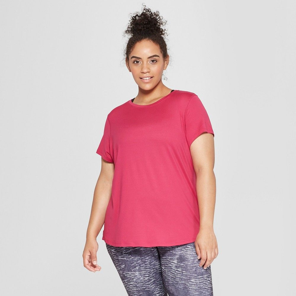 575d8052bf5 Women s Plus Size Semi-Fitted Soft T-Shirt - C9 Champion Berry (Pink ...
