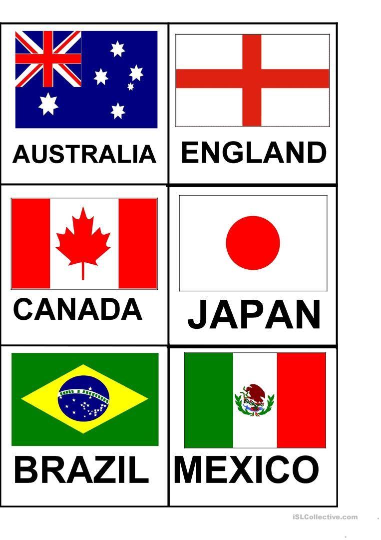 flag flashcards зурган илэрцүүд Flashcards, Teaching