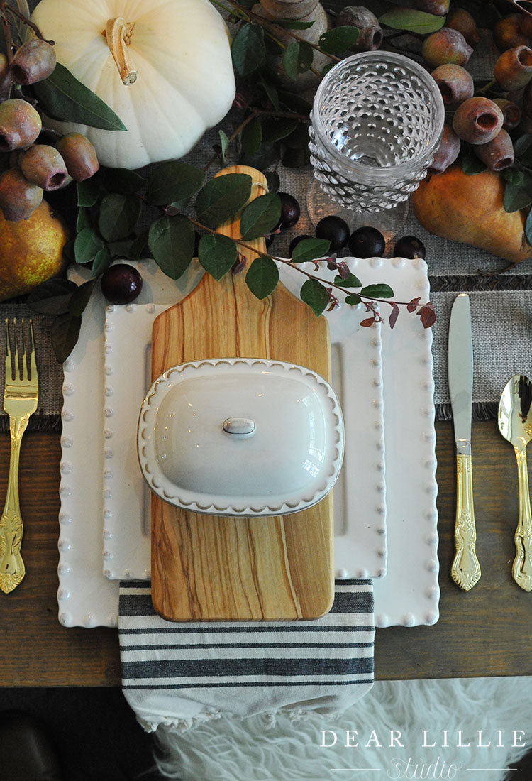 Our Thanksgiving Table Setting #thanksgivingtablesettings