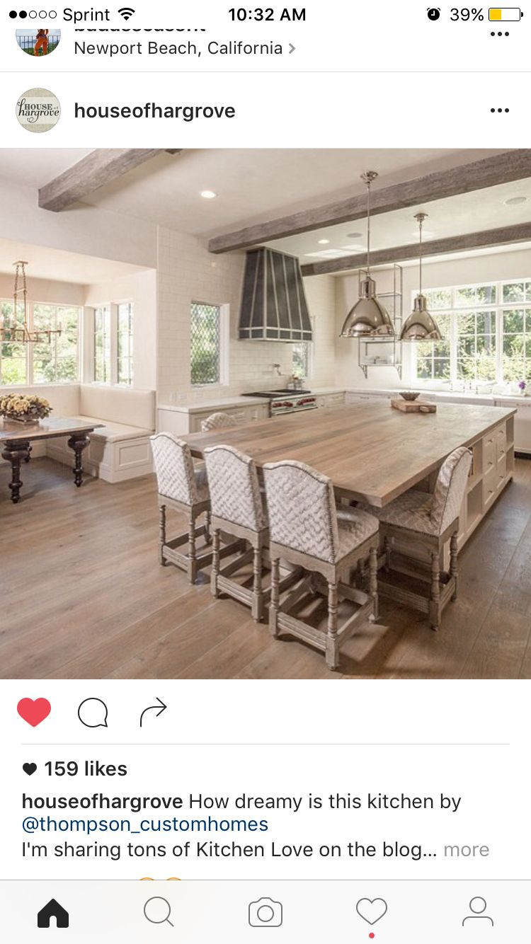 Seating at the end of the island house pinterest kitchens
