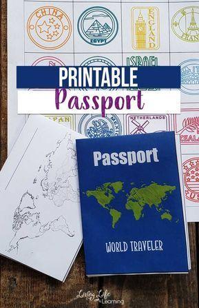 Photo of Printable Passport for Kids