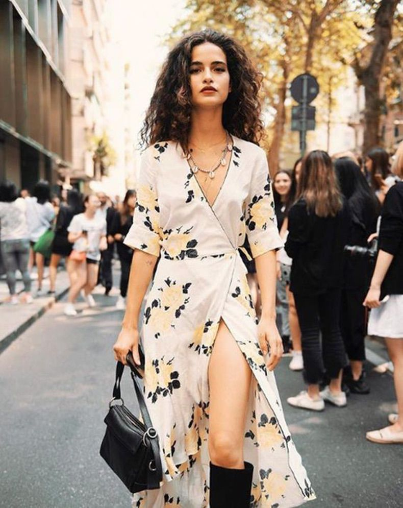 15 Looks Con Vestido Cruzado Que Demuestran Que Es El Más Femenino Y Chic De Todos