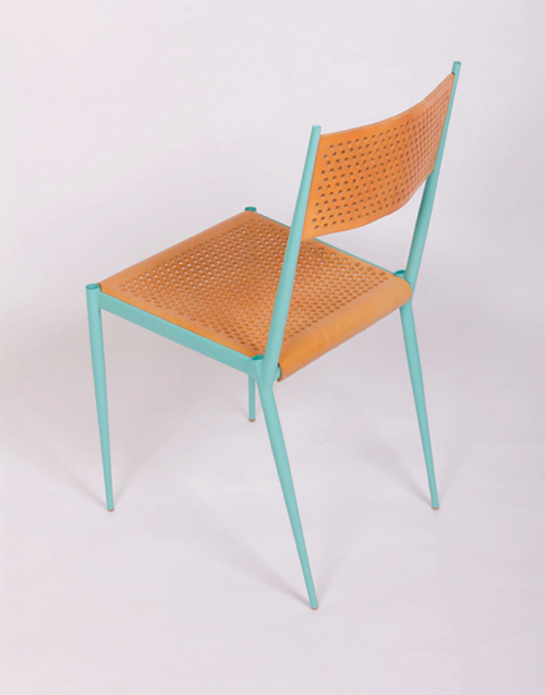 Acciaio series of lightweight steel tubes chairs and furniture inspired by the bicycle. Designed by Max Lipsey