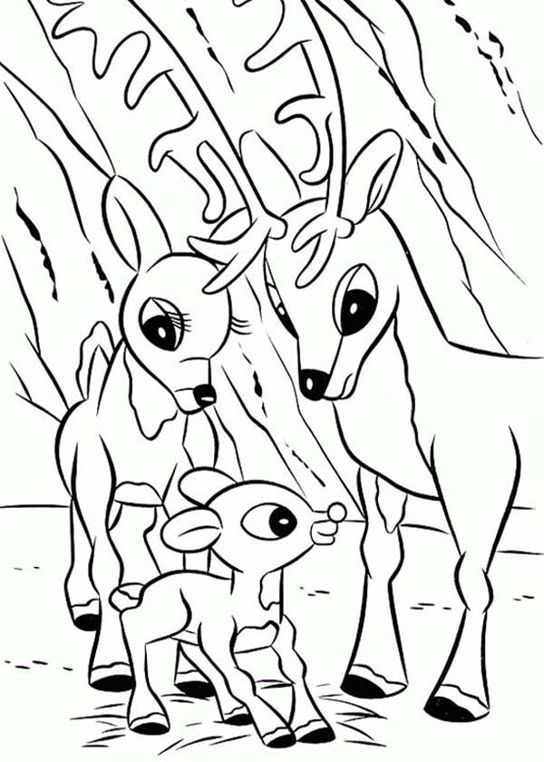 Rudolph Coloring Pages | Lisi Martin (1944) Ilustración ...