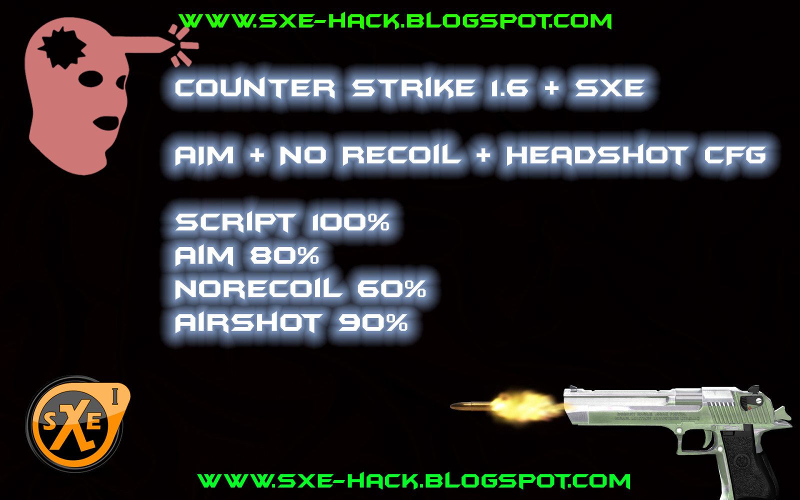 Counter Strike 1.6 sXe Aim + NoRecoil + Headshot Private CFG Download ~ Shark Pro