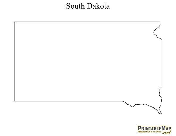 Printable Map Of South Dakota South Dakota South Dakota State