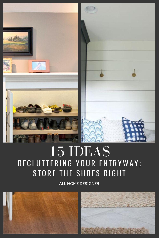 Entryway Shoe Storage Ideas #entrywayideas #entryways