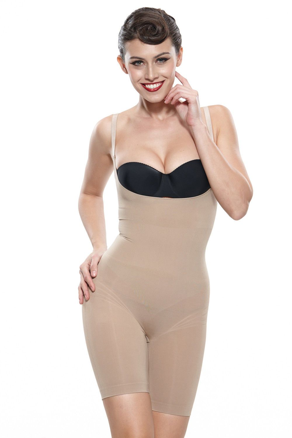 a802913a16 Lady Shapewear Slimming Body Shaper Overbust Mid Thigh Firm Control  Bodysuits