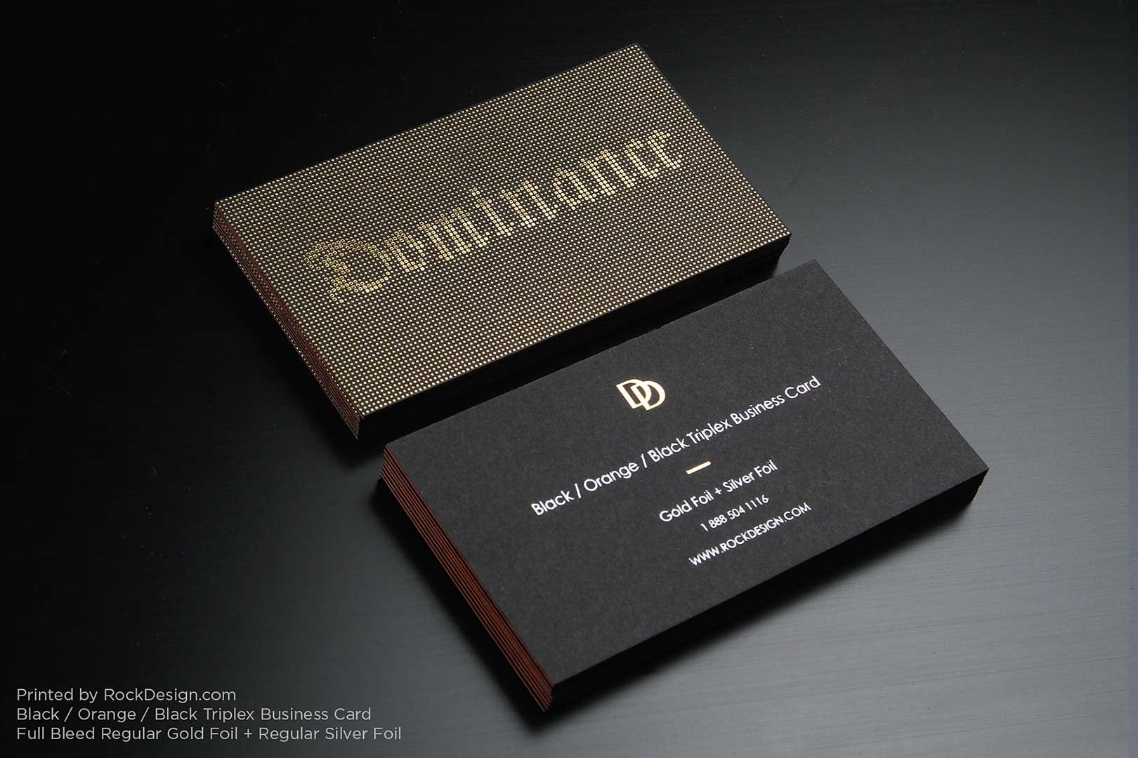 Triplex Business Cards with gold foil stamping - photo 5 | cards ...