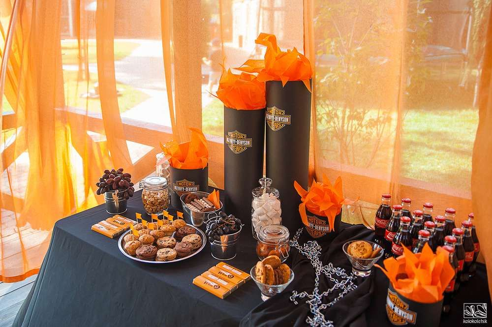 Harley Davidson Biker Birthday Party See More Party