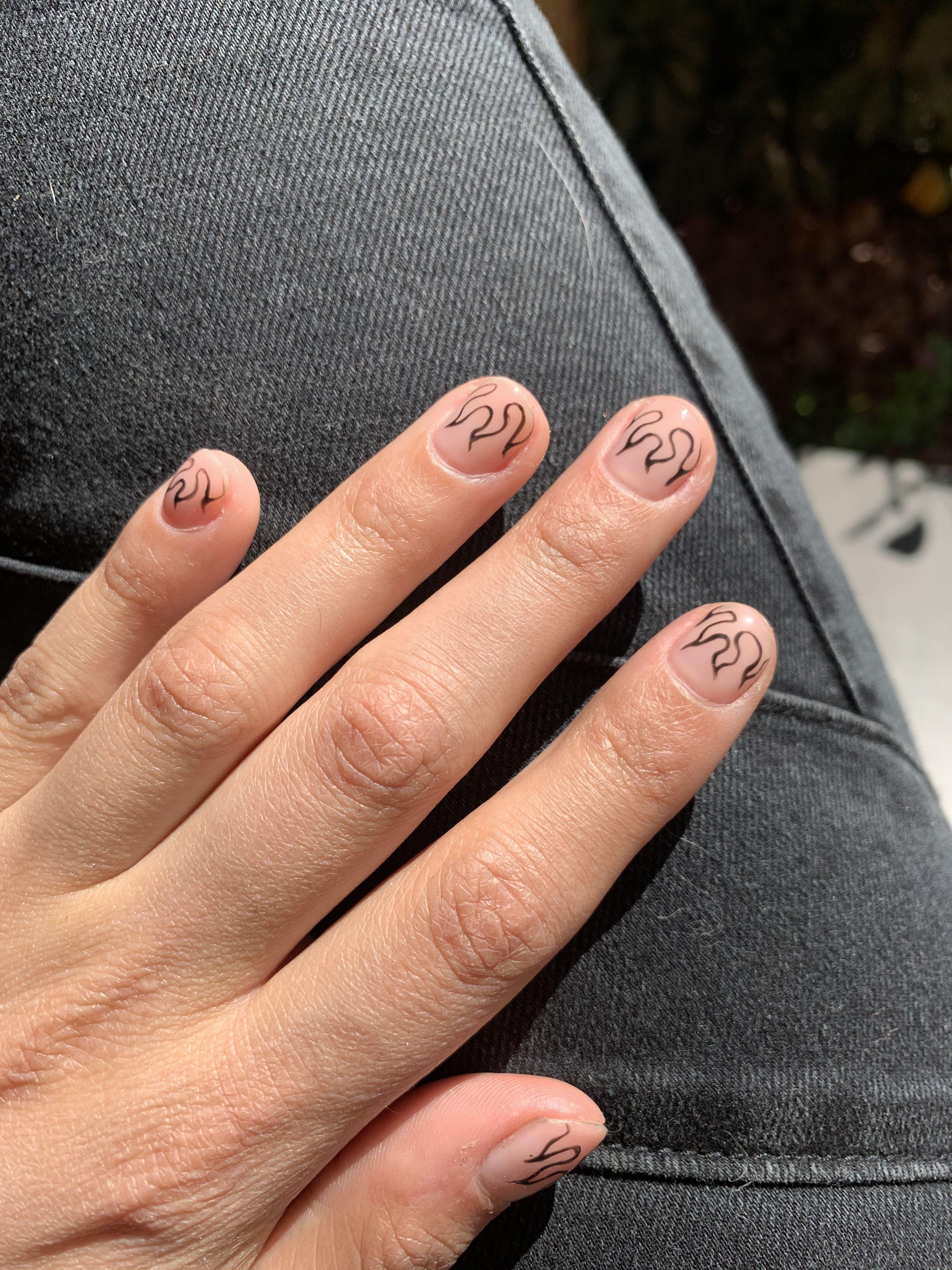 Flame Nails Mens Nails Flame Nail Art Swag Nails