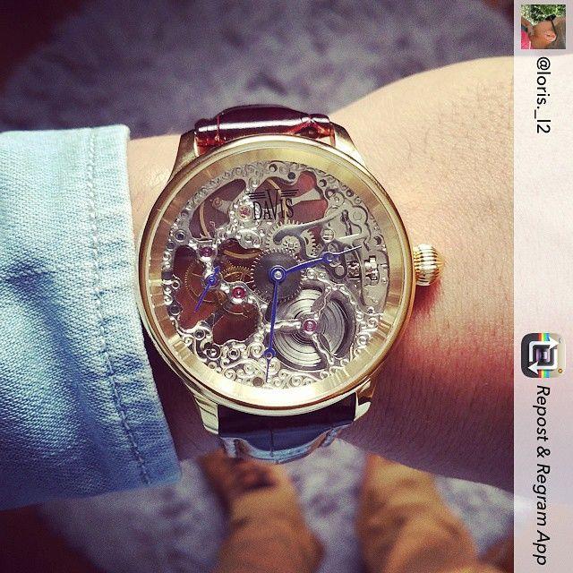 pingl par montres davis watches sur skeleton watches. Black Bedroom Furniture Sets. Home Design Ideas