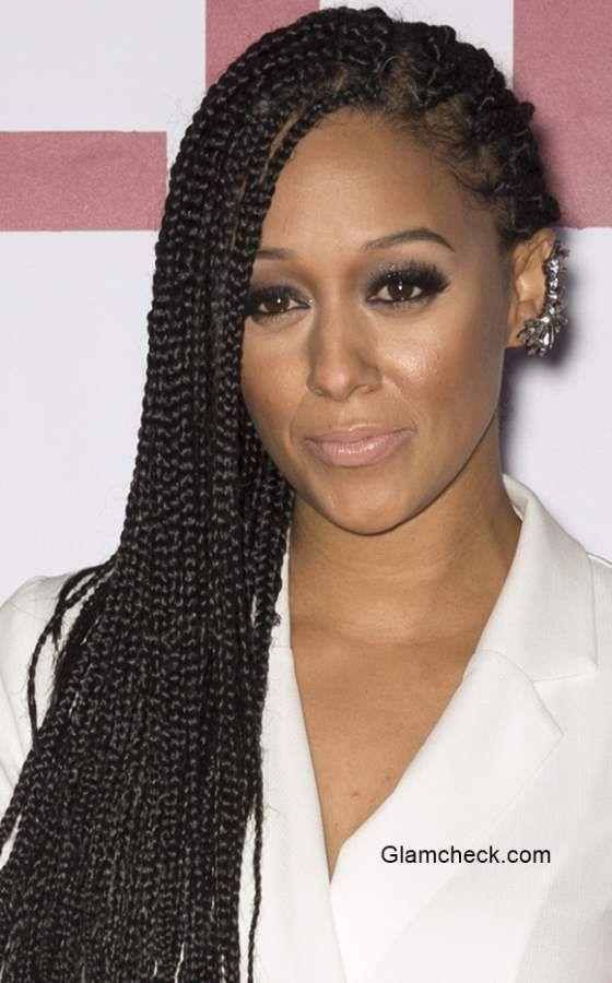 Tia Mowry Corncrow Braids Hairstyle At The Selma New York Premiere Individual Braids Micro Braids Hairstyles Micro Braids Styles