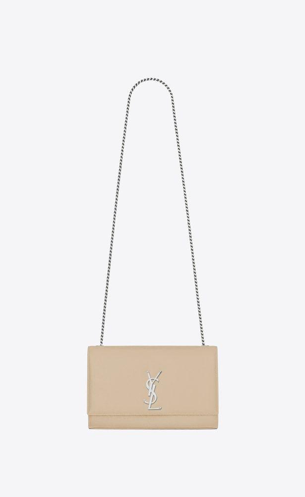 1571506bb1d36 SAINT LAURENT MONOGRAM KATE Woman medium kate chain bag in powder textured  leather a V4