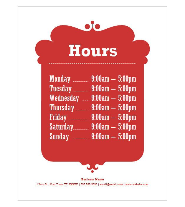 Business Hours Flyer House cleaning Pinterest Business, Free - house cleaning flyer template