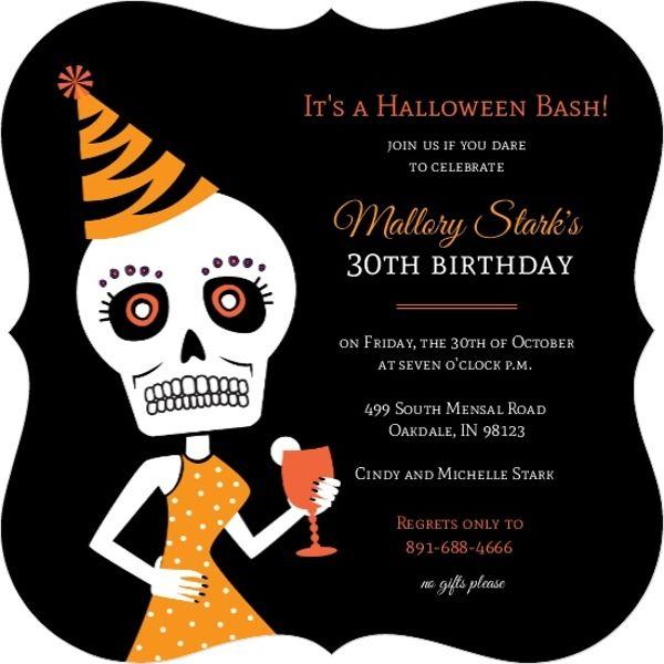 creepy halloween 30th birthday - Google Search Boys room - halloween invitation template