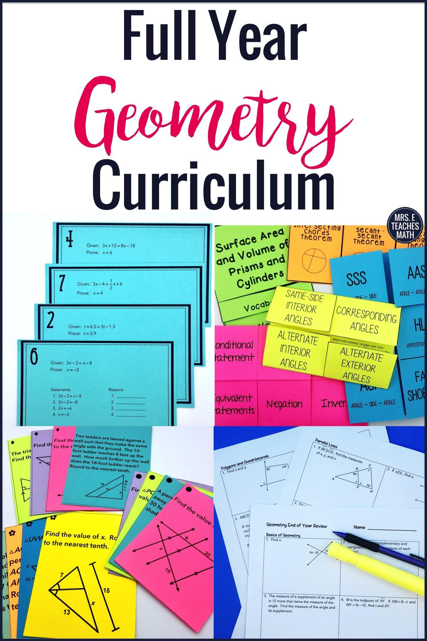 Geometry Full Year Curriculum Bundle