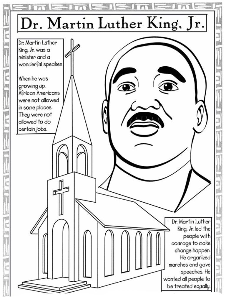 Martin Luther King Jr Coloring Pages And Worksheets Best Colorin Martin Luther King Jr Worksheets Martin Luther King Worksheets Martin Luther King Activities