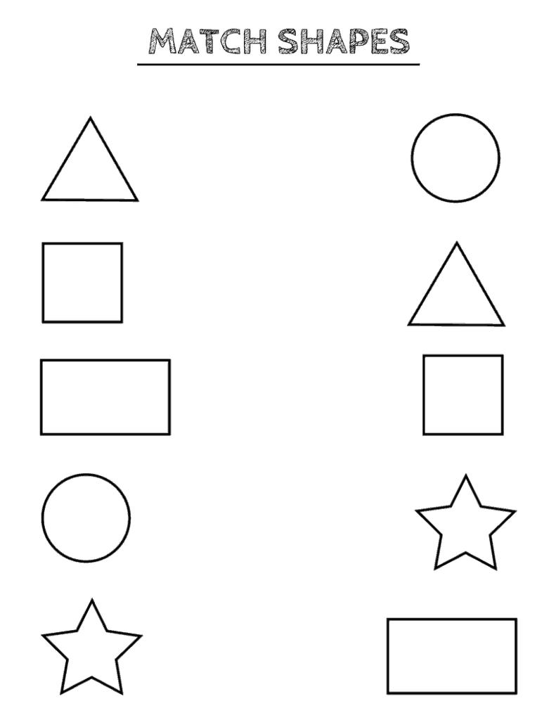 Free Printable Shapes Worksheets For Toddlers And Preschoolers Preschool Crafts Shapes Razvivayushie Uprazhneniya Obuchenie Pismu Doshkolnye Raspechatki [ 1024 x 791 Pixel ]