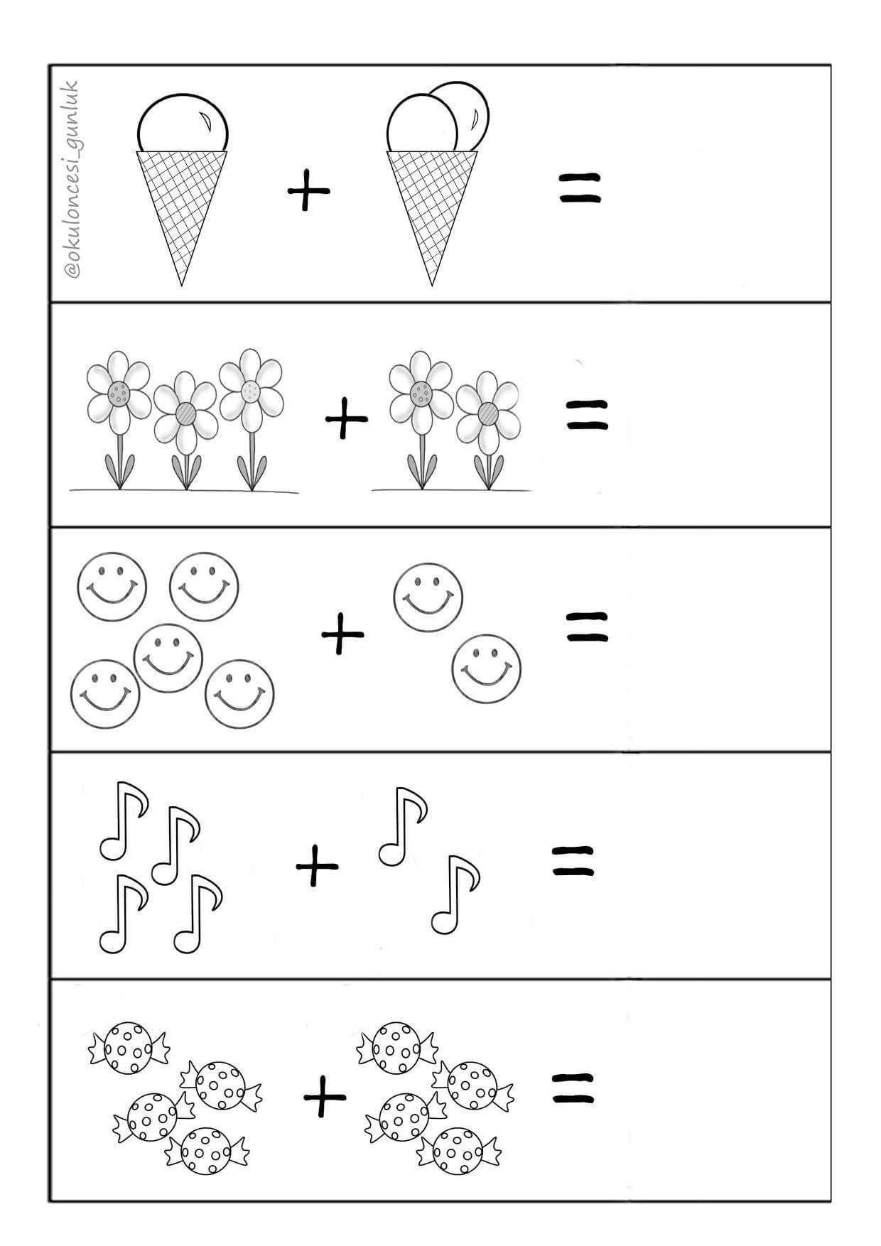 Addition For Kindergarten Worksheets Worksheet For Kindergarten Kindergarten Math Worksheets Preschool Math Worksheets Kindergarten Math