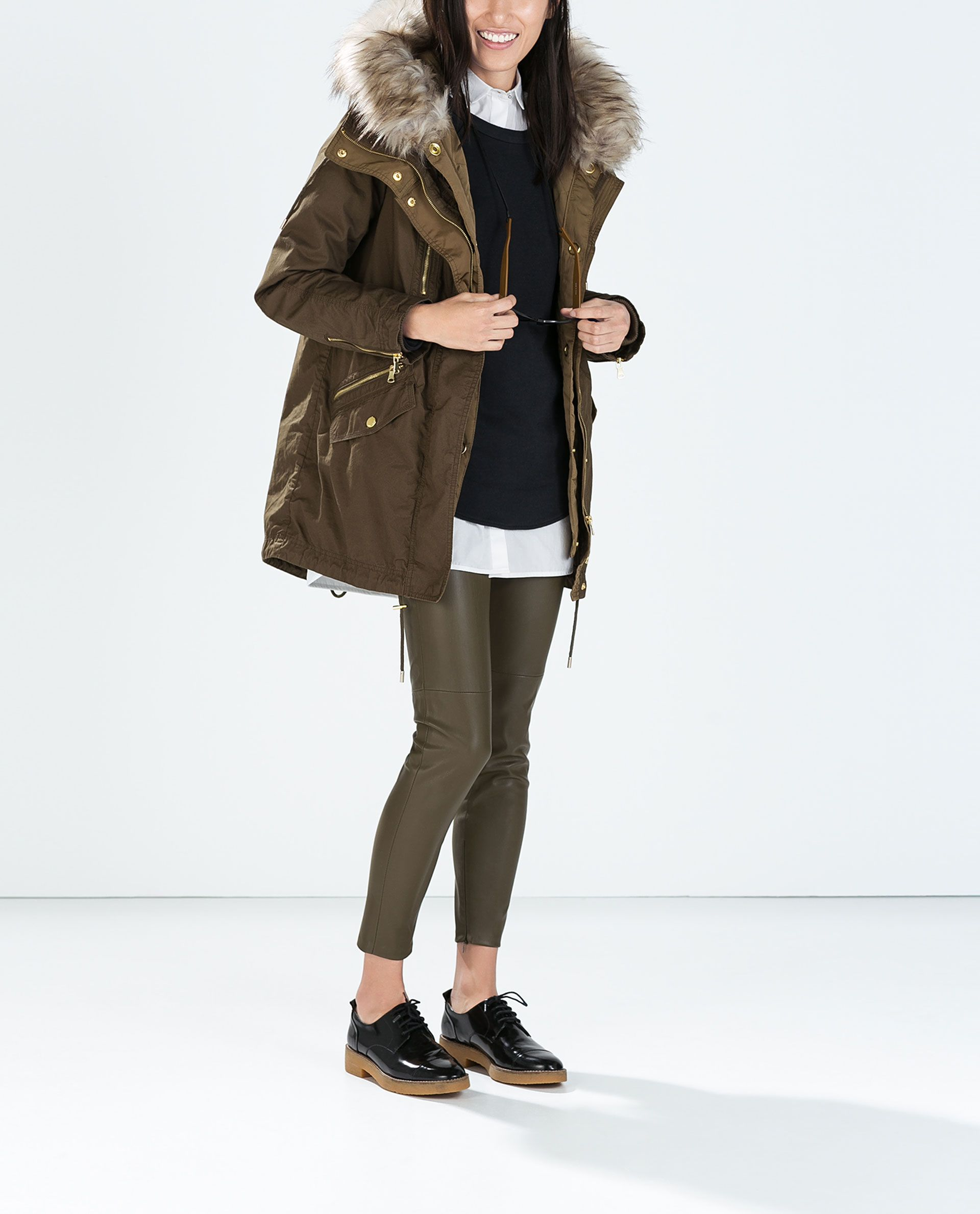 Image 3 Of PARKA WITH DETACHABLE QUILTED LINING From Zara | Fall 2014 | Pinterest | Parka Coat ...