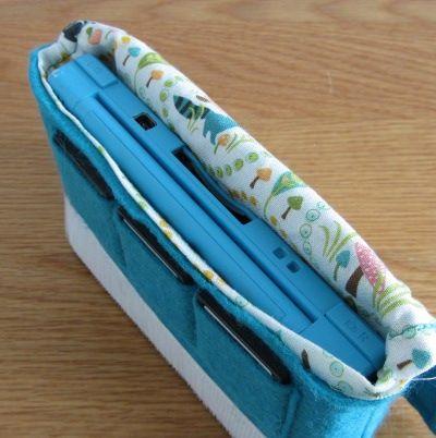 Portable game console case diy tutorial sac pour - Tuto sac ordinateur portable ...
