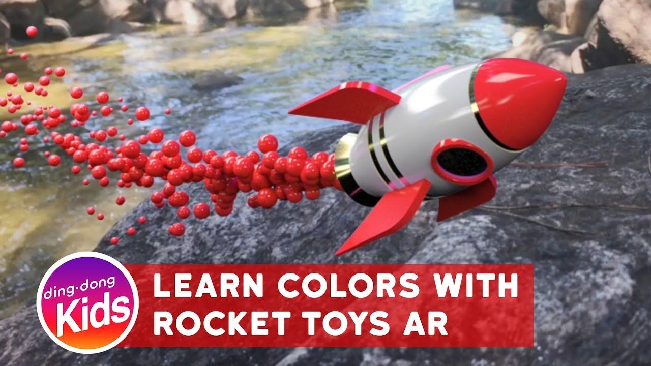 learn colors with rocket toys ar for kids children and toddlers