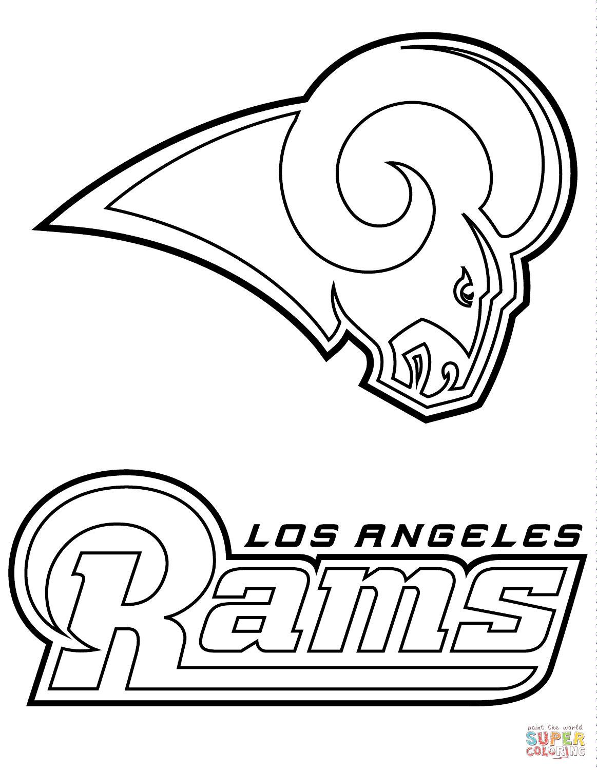Los Angeles Rams Logo Coloring Page Free Printable Coloring Pages Los Angeles Rams Logo Football Coloring Pages Coloring Pages