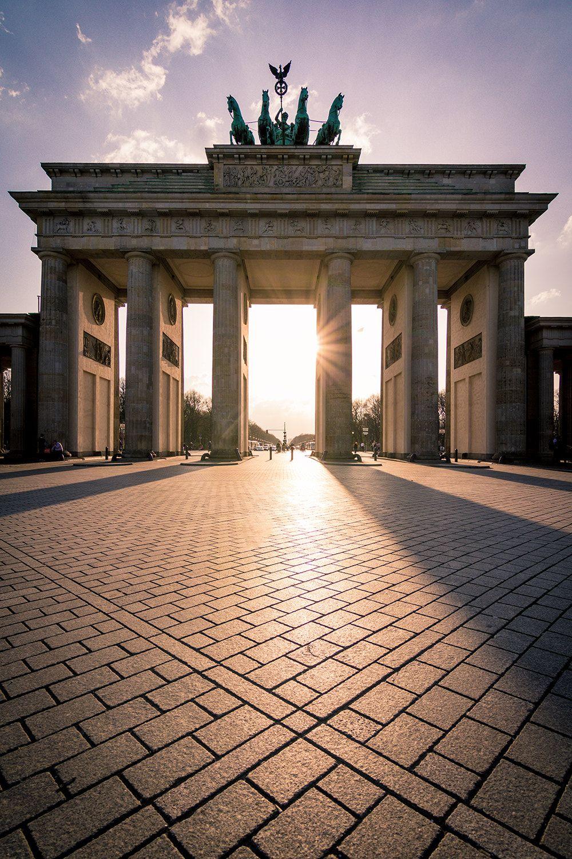 Sunset At Brandenburger Tor Berlin Germany Photography Berlin Photography Germany Photography