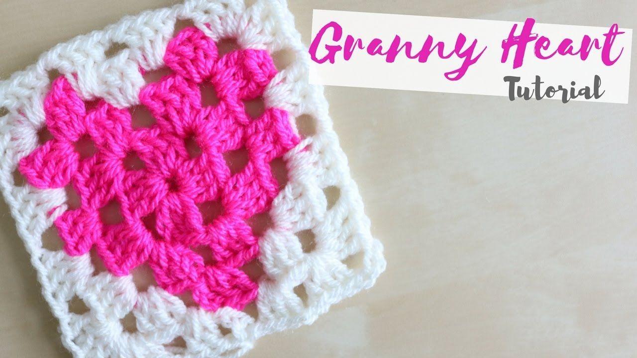 CROCHET: How to crochet a Granny Heart square   Bella Coco ...