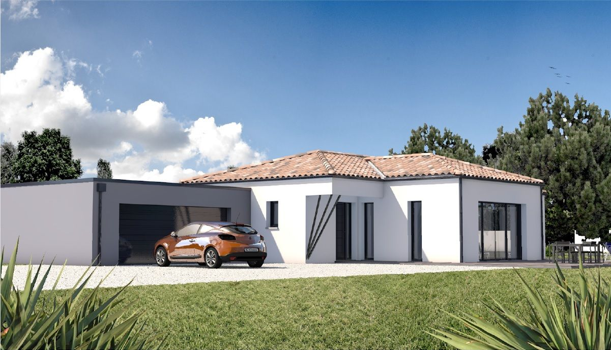 Construire Une Maison Moderne Sur Mesure 44 56 85 Depreux Construction Maisont Toiture Monopente