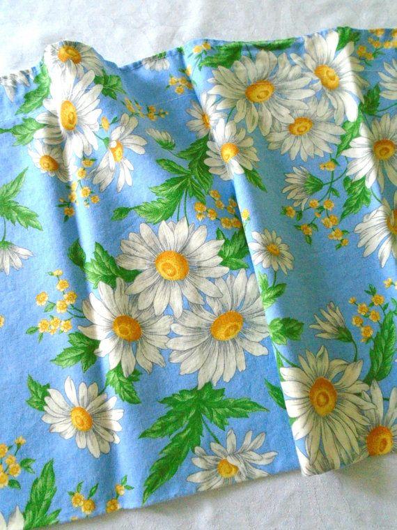 2 White Daisy Valances / Window Valances / Pair / by DoesMeadow