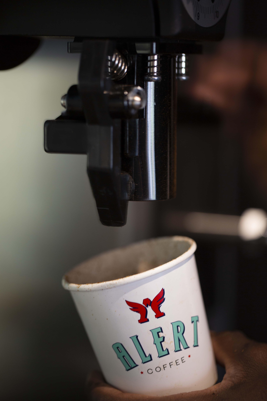 Alert Coffee Shop Branding Design Kuwait City, Kuwait