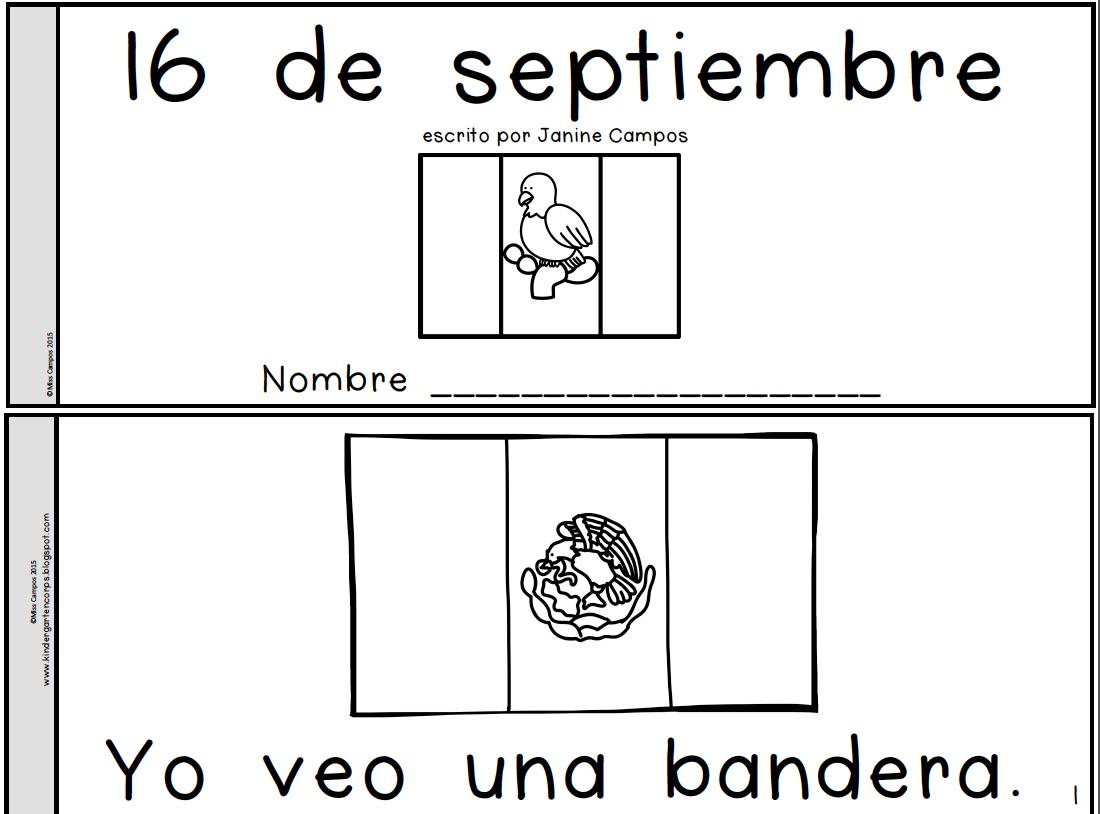 Gratis Free Librito Para El 16 De Septiembre Mexican Independence Day Mexican Independence Day Kindergarten Social Studies Independence Day Activities [ 814 x 1100 Pixel ]