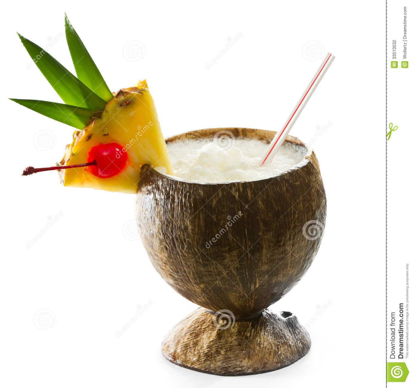 Tropical Coconut Drinks .