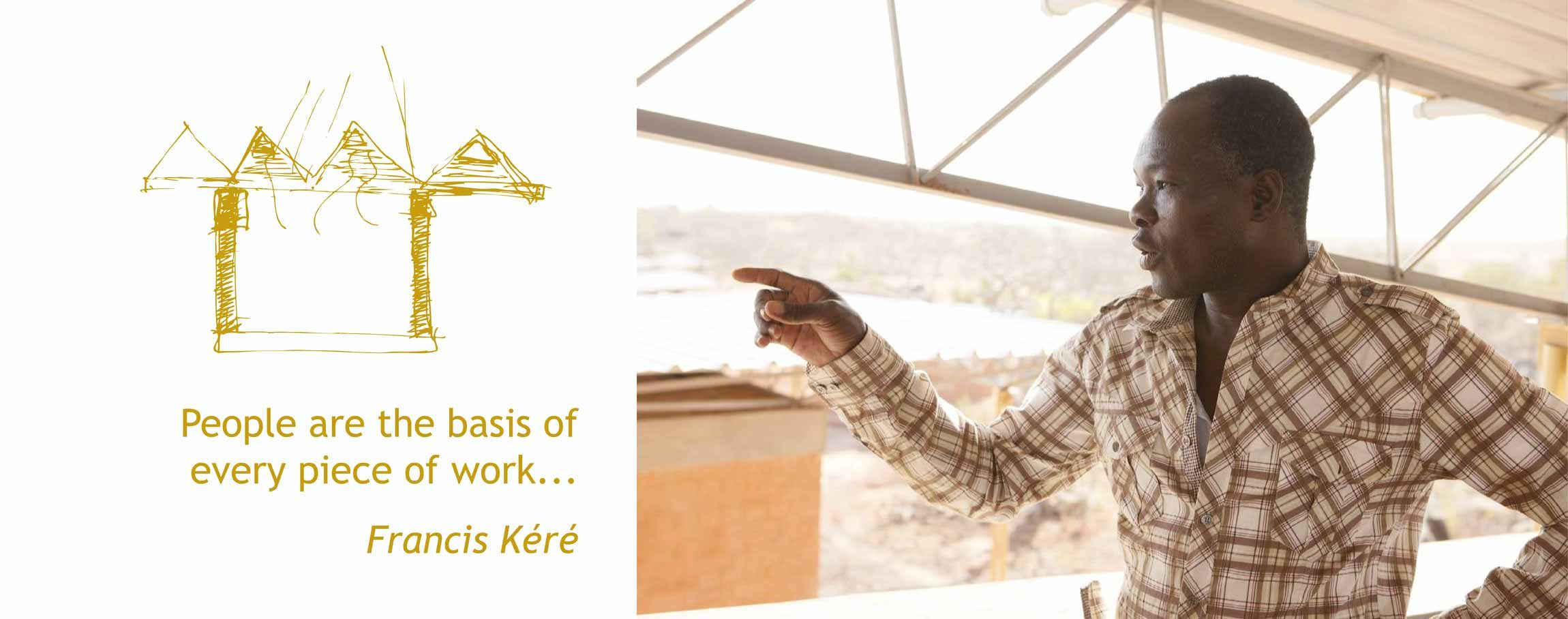 Diébédo Francis Kéré and his architectural firm design buildings that are good for the environment — and those who use them.