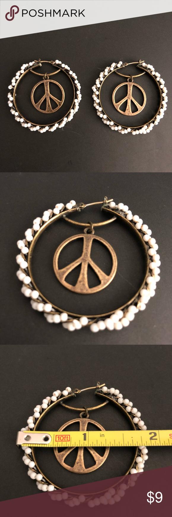 Download Lucky Brand peace sign earrings | Lucky brand earrings ...