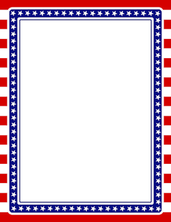Printable American flag border. Free GIF, JPG, PDF, and PNG ...