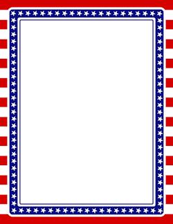 Free Patriotic Borders Clip Art Borders Borders For Paper Page Borders
